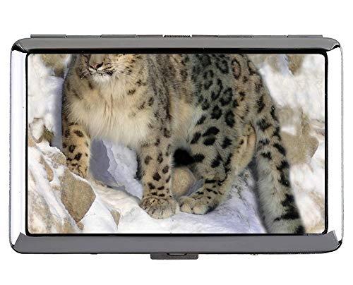 Yanteng Zoo Leopard Keep Business Cards 190618-005 - Tarjetas de Visita, Case13 (Plateado) - YT190618-1Acase-Q1-013