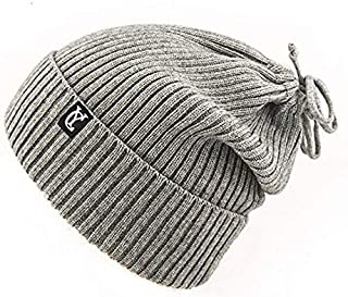 Letlar 3 in 1 Ponytail Beanie Hat Winter Warm Scarf Knit Beanie Skull Headband