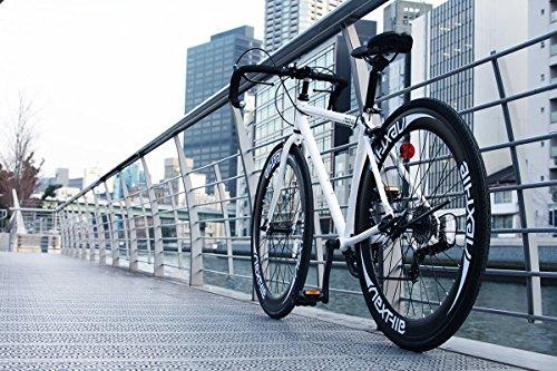 ネクスタイル(Nextyle)700Cロードバイクシマノ7段変速RNX-700760㎜ディープリムホワイト24187