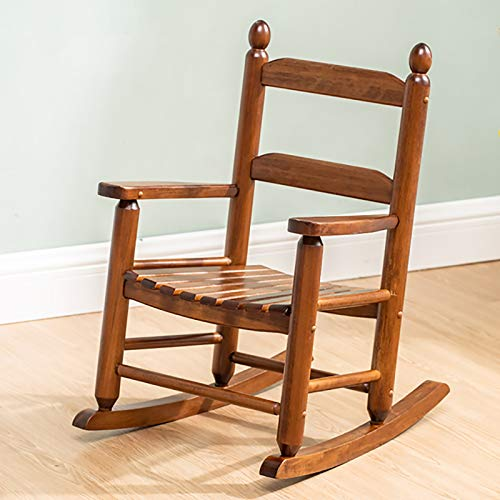 MYL Schaukelstuhl Klassischer Schaukelstuhl Aus Holz/Kinder Porch Rocker - Innen Oder Außen - Geeignet Für 3-7 Jahre, (Color : Brown)