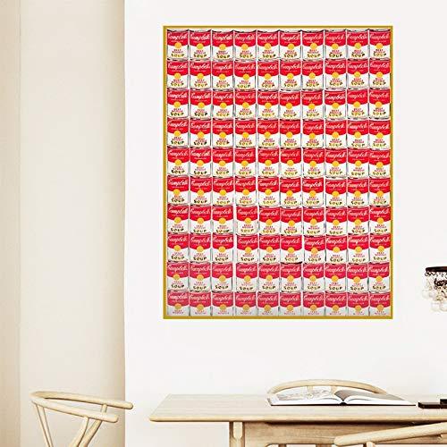 yaofale Kein Rahmen Andy Warhol Pop Art Albert Dosen Flaschen Druck Wandbilder Home Abstrakte Malerei Dekorativer Druck Wandkunst für Wohnzimmer 19.7x29.5inch