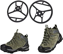 YYGIFT Outdoor Anti Slip Shoes Cover 5 Teeth Ice Snow Shoe Spike Grip Crampon Cleat
