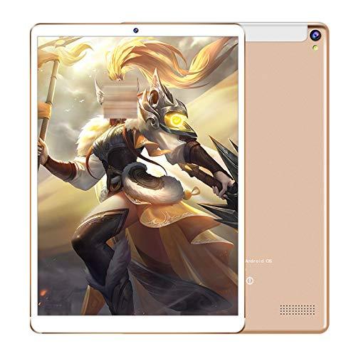 QCBC Tableta HD, Pantalla HD 10.1', 1+ 16GB, diseñada para Entretenimiento portátil, Altavoz Trasero, Pantalla de Alta definición,Oro