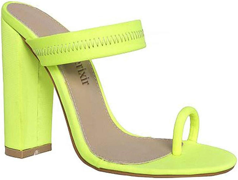 Perixir Women Summer Sandals Slippers Thin High Heels Sandals Flip Flop Buckle Hollow Women shoes Hollow Slippers Sexy Slides