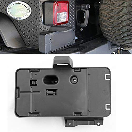 Stainless steel fittings Car Tail Rear License Plate Frame Number Holder Mounting Bracket with Light for Jeep Wrangler JK 2007-2017.