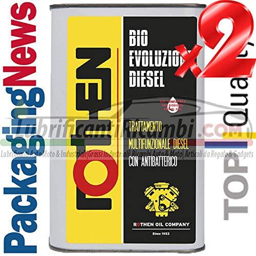 Rothen 2 Litri ADDITIVO Auto Top per Motori Diesel PULITORE Pulizia INIETTORI BIO Evoluzione Diesel - 2 Litri