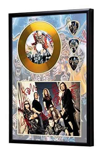 We Love Guitars Iron Maiden Gerahmte CD Gold Disc Display & Plektren (A4)