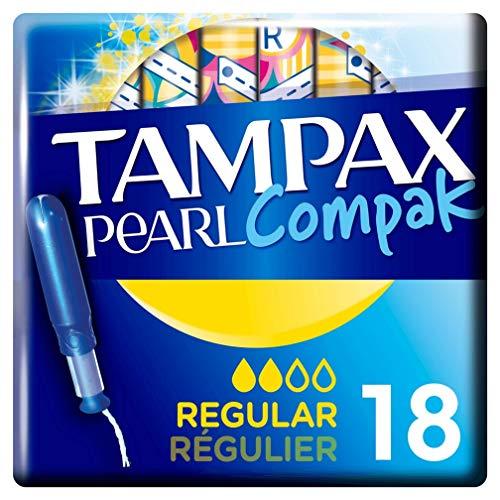 Tampax Compak Perla tampones regulares con aplicador X18