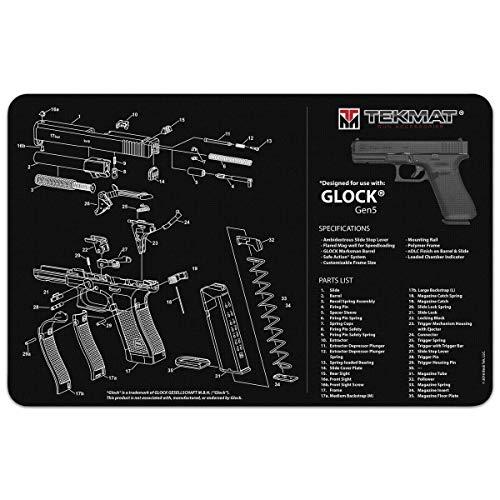 TekMat Unisex-Erwachsene Gun Cleaning Mat Glock Gen 5 Pistolenreinigungsmatte, schwarz, Einheitsgröße