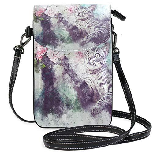 XCNGG Galaxy Astronaut Cat Cell Phone Purse Crossbody Bag Pouch Shoulder Bags Wallet for women Girls Travel Wedding