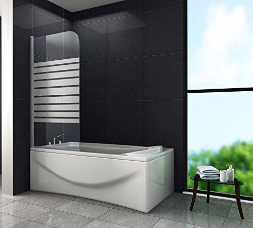 Douchescheidingswand Wellness (badkuip) 80 x 140 cm Gedeeltelijk gesatineerd