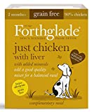 Forthglade Natural Grain Free Complementary Wet Dog Food Just 90 Percent Chicken with Liver 395 g (Pack 18)