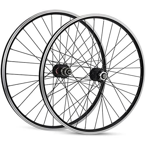 Zatnec Ciclismo Ruedas Juego De Ruedas De Bicicleta 26, Ruedas Delanteras Traseras Bicicleta Montaña MTB Doble Pared Buje Rodamientos Sellados V-Brake Híbrido 7/8/9/10/11 Velocidad