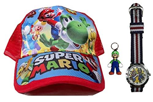 YUMEIJING Reloj Hat Super Mario Bro Cosplay Odyssey Hat Mario Cosplay Cap Mario Gorras Adultos Niños Cosplay Sombrero Disfraz Accesorios Accesorios