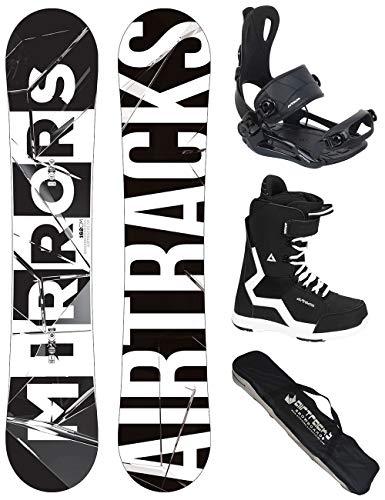 Airtracks Snowboard Set/Board Mirrors Wide 152 + Snowboard Bindung Master + Boots Master QL 40 + Sb Bag