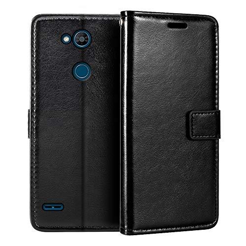 Capa carteira para LG X Power 3 X510, capa flip magnética de couro sintético premium com suporte para cartão e suporte para LG X5 2018
