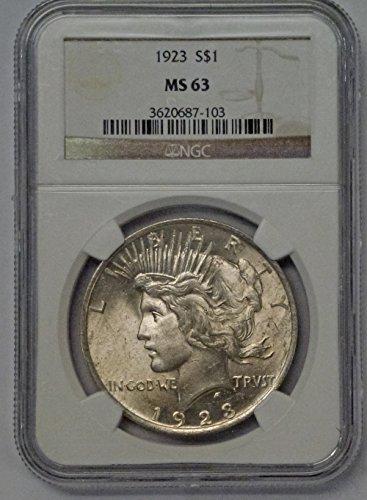 1923 Peace Dollar $1 MS-63 PCGS
