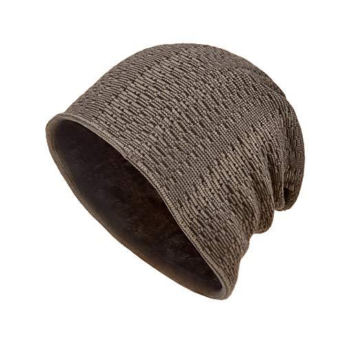 jieGorge Unisex Wool Plus Velvet Winter Warm halten Outdoor Casual Kurze Wollmütze...
