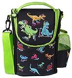 fringoo - Sac à Dos Grande capacité pour Enfants   Petit Sac Isotherme pour Enfants   Parfait comme Sac à Dos pour l'école pour Les garçons - Dinosaur Patineurs