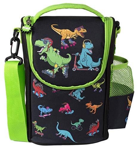 Fringoo - Großer Kindergurtbeutel mit großem Fassungsvermögen | Kleine Kühltasche Kinder Lunchbox Jungen - Dinosaurier-Läufer