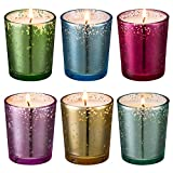 Leelife Scented Candles Soy Wax 6 Pack Gift Set,Mercury Glass Votive Candle for Weddings, Parties,Home Decor And Home Fragrance Candle Gifts