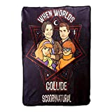 """Supernatural Collectibles Scooby Multi-Character Fleece Blanket   45' x 60"""""""