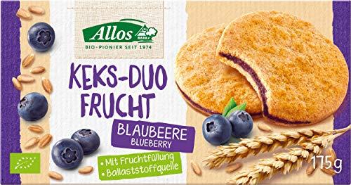 Allos Bio Keks-Duo Frucht Blaubeere, 175 g