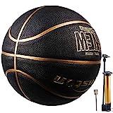 Senston Basketball Outdoor Indoor Rubber Basketball Ball Official Size 7 Street Basketball with Pump