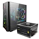 Segotep Phoenix ATX Black Mid Tower PC Gaming Computer Case and 650w 80 Plus Gold Power Supply