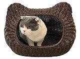 mellowY - Handmade Wicker cat Bed, cat Bed Basket, cat cave