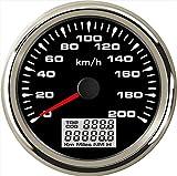 ELING Coche Motocicleta GPS Velocímetro Velómetro 0-200KM/H Velocidad Cuentakilómetros Kilometraje con luz de fondo 85mm
