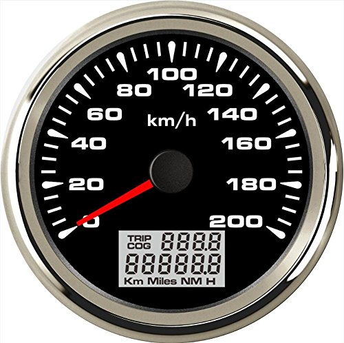 ELING Coche Motocicleta GPS Velocímetro Velómetro 0-200KM/H Velocidad Cuentakilómetros Kilometraje con luz...