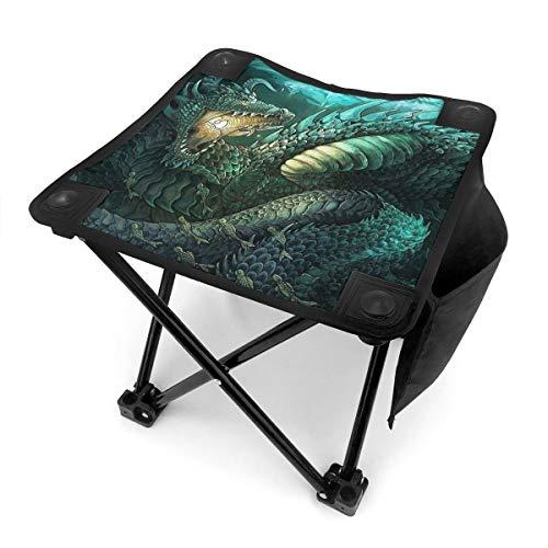 Rhythm-cy Zodiac Dragons – Skorpion Kleiner Klapphocker Tragbarer Mini Tritthocker Outdoor Klappstuhl, zusammenklappbarer Campinghocker für Angeln Camping Reise