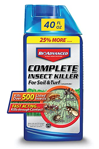 BIOADVANCED 700377A Complete Insect Grub, Ant and Mosquito Killer for Lawns, Pest Control, 40-Ounce, Concentrate