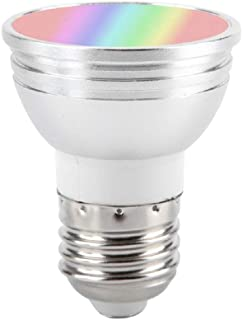 Lilon Luz WiFi inteligente, bombilla LED RGB regulable 6 W E27 E26 GU10 GU5.3 B22 Luz de despertador inteligente RGB, compatible con Amazon Alexa y Google Home Voice Control, no requiere concentrador