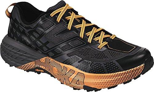 HOKA ONE ONE Men's Speedgoat 2 Trail Runner (9 D(M) US, Black/True Red)