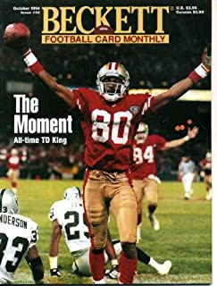Beckett Football Card Monthly October 1994 Jerry Rice/San Francisco 49ers on Cover, Anthony Miller/Denver Broncos (on back cover), Dan Marino/Miami Dolphins, Dan Wilkinson/Cincinnati Bengals
