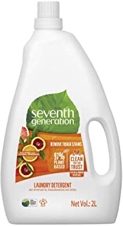 Seventh Generation Plant-based Concentrated Fabric Detergent Liquid, Citrus, 2 Litre