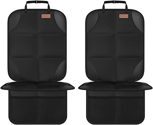 Car Seat Protector, Smart eLf 2Pack Seat Protector Protect Child Seats with Thickest Padding and Non-Slip Backing Mes...