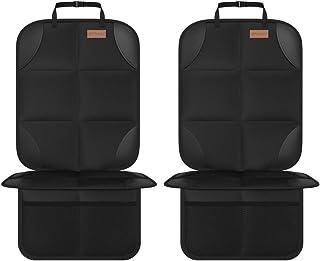 Smart eLf Kindersitzunterlage,2 Stück sitzschoner auto kindersitz Isofix Geeignet, mit dickster Polsterung und rutschfesten Netztaschen für Baby und Haustier