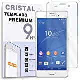 REY Protector de Pantalla para Sony Xperia Z3 Cristal Vidrio Templado Premium