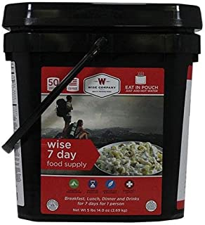 Wise Foods Ultimate Emergency Kit 7 Day Food Supply Bucket Camping Pouches