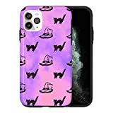 Coque de protection pour iPhone 12 Mini - Motif chats effrayants - KU007_6 - Pour iPhone 12 Mini -...