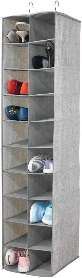 mDesign Soft Fabric Closet Large discharge Deluxe sale Organizer - Cl Holds Handbags Shoes