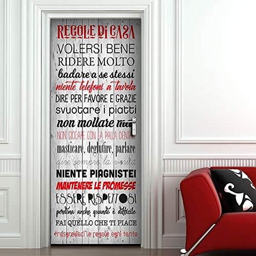 Dekoidea by Crearreda Decorazione cover adesiva per porte 83 x...