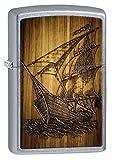 Zippo Lighter: Sailing Ship Drawing - Street Chrome 80610