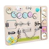 Conseil occupé pour tout-petit, porte-clés en bois, jouet de développement, jouet d'apprentissage Montessori pour enfants, garçon, fille