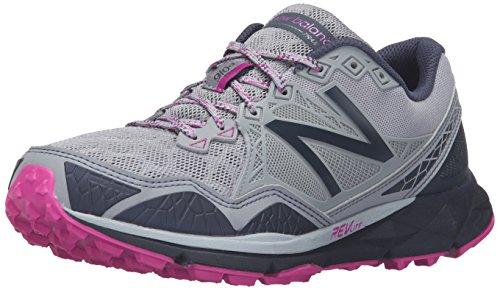 New Balance Mujer 910v3 Trail Running Shoe, Grey/Purple, 35 EU