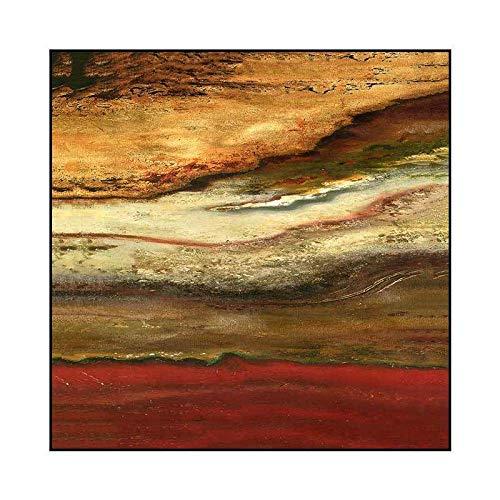 jzxjzx Frameloze vierkante gouden folie decoratieve schilderij moderne abstracte kunst schilderij