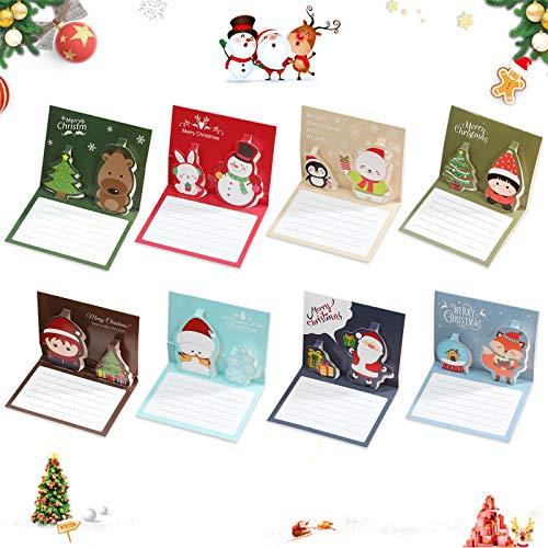 Sunshine smile Weihnachten Karten,24 PCS Weihnachtskarten,Klappkarten Grußkarten für Frohe Weihnachten,Weihnachten Karten personalisiert,Handmade Weihnachtsgrußkarte-Frohe Weihnachten